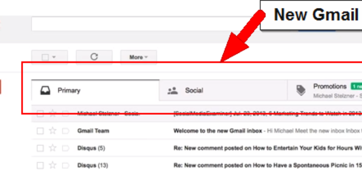 Tabs of Gmail and its impact on subscriptions and brand promotions