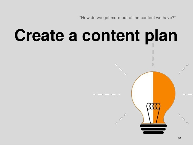 Planning, a fundamental aspect in the content strategy
